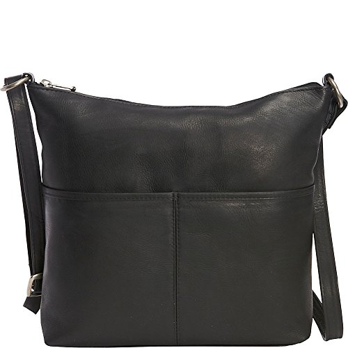 le-donne-leather-carefree-top-zip-tote-black
