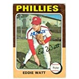 Eddie Watt Autographed/Hand Signed Baseball Card (Philadelphia Phillies) 1975 Topps #374 promo code 2015