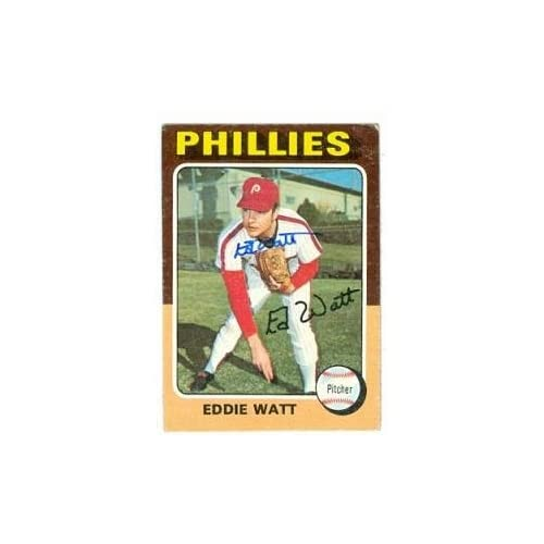 Eddie Watt Autographed/Hand Signed Baseball Card (Philadelphia Phillies) 1975 Topps #374 coupon codes 2015