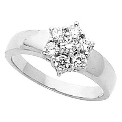 10k White Gold Diamond Wedding Band 48 Simple K White Gold Diamond