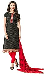 Riya Fashions Women's Cotton Unstitched Dress Material (Pack of 3)(R2007_Multicolor_Free Size)