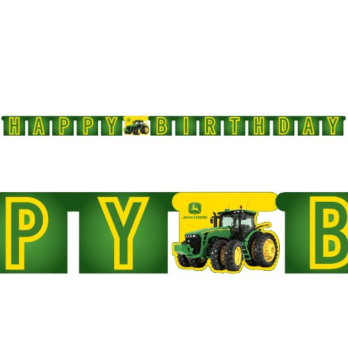 Party Destination 206230 John Deere Tractor - Jointed Banner