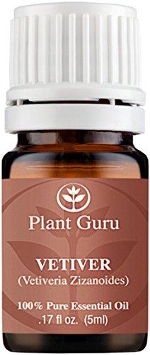 Vetiver Essential Oil. 5 ml. 100% Pure, Undiluted, Therapeutic Grade.