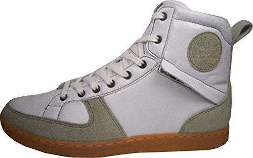 Creative Recreation Solano Mid, materiale esterno e GORE-TEX. Interni in pelle, CR175 - 30, bianco/grigio, taglia 42/US 9/UK 8/27 cm