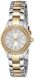 GUESS Analog White Dial Womens Watch - W0110L1