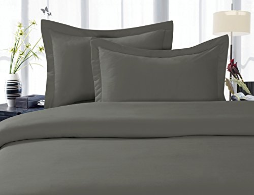 Elegant Comfort 4-Piece 1500 Thread Count Egyptian Quality Hypoallergenic Ultra Soft Wrinkle, Fade, Stain Resistant Bed Sheet Sets with Deep Pockets, King, Gray (King Bed Sheets Egyptian Cotton compare prices)