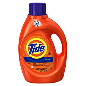 Tide Original Scent HE Turbo Clean Liquid Laundry Detergent, 100 oz