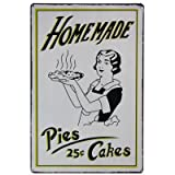 Vintage Style Hanging Metal Retro Sign 20Cm X 30Cm - Homemade Pies 25Cby Carousel Home