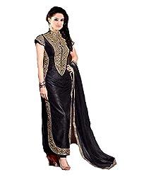 Khazanakart Designer black banglory dress materials For Womens