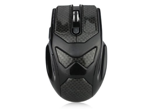 Brand New Dealheroes 2.4G Wireless Pc Game Mouse Brilliant Black Print 6 Buttons