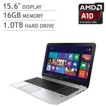 "Hp Envy 15Z Quad Laptop(Non-Touch): 15.6"" Full Hd 1920X1080 Display,Amd Quad-Core A10-5750M 2.5Ghz, 16Gb Memory, 1Tb Hard Drive, Backlit Keyboard, Windows 8.1"