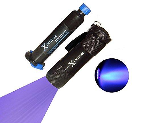 Xfactor® Uv Loca Glue Adhesive + Uv Black Light Flashlight For Lcd Glass Digitizer Repair - Low Viscosity 2000Mpa*S - Money Back Guarantee !!