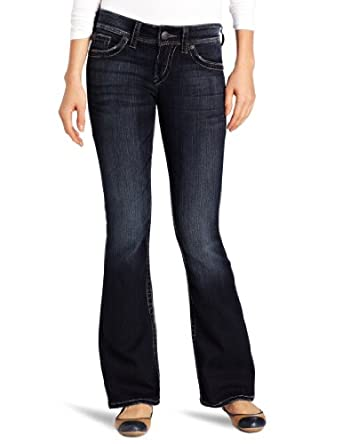 Silver Jean Juniors Suki Surplus Bootcut Jean, Dark Blue, 24x30