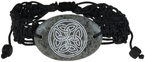 Natural Stone Leather Celtic Adjustable Bracelet