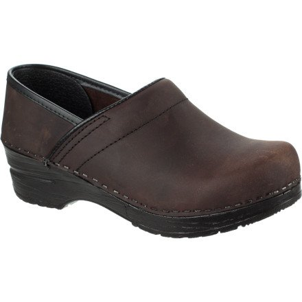 Sanita Men's Professional Oil Clog,Antique Brown,43 EU ( US Men's 9.5-10 M)