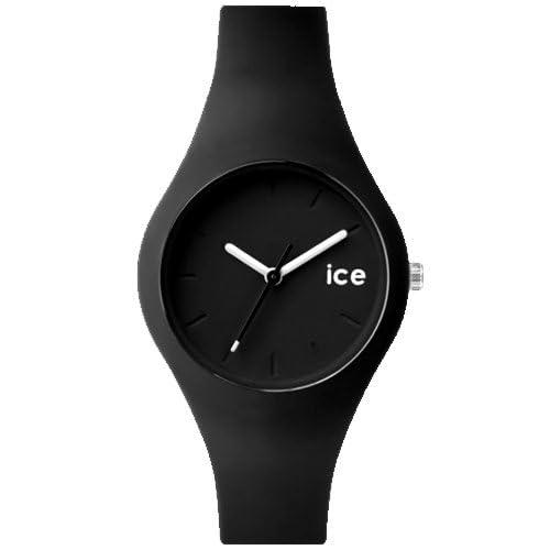 ≪ice≫ice Watch Ora 10気圧防水 シリコンラバーベルトウォッチ レディース向サイズ(ICE.BK.S.S.14 ICE.DAZ.S.S.14 ICE.NBE.S.S.14 ICE.WE.S.S.14) (ICE.BK.S.S.14(ブラック))