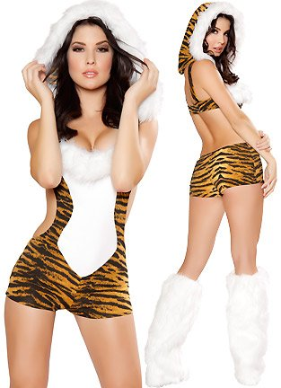Amazon.com: Roma Costume Women's Tempting Tiger Sexy Cat Costumes For