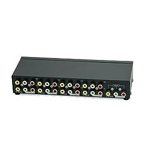 Caja de Selección Panlong de 8 entradas y una salida de compuesto de video y audio para DVD, STB y consolas de juego