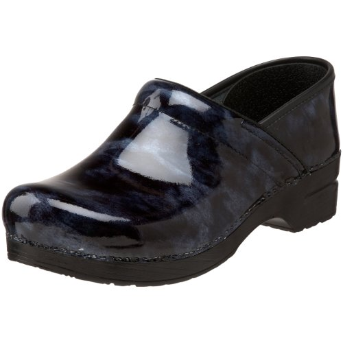 Dansko Women's Professional-Marbled Clog,Professional Blue Marbled Patent,36 EU / 5.5-6 B(M) US