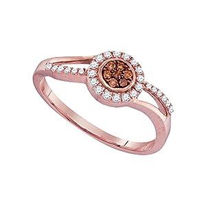 1/4 Carat Total Weight Brown Diamond Ring
