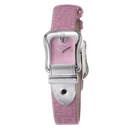 Fendi B. Fendi Ladies Pink Fabric Leather Strap 