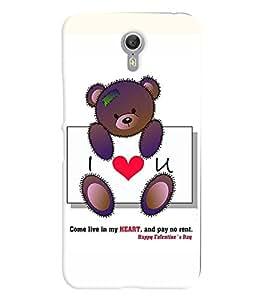 Printvisa I Love You With Teddy Bear Back Case Cover for Lenovo ZUK Z1