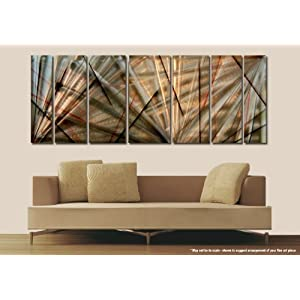 Meteor Eclipse Metal Wall Art Modern Office Decor Abstract Metal