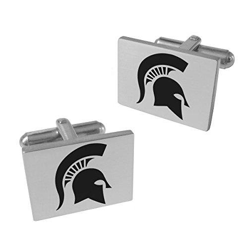 Michigan State Spartans Stainless Steel Cufflinks