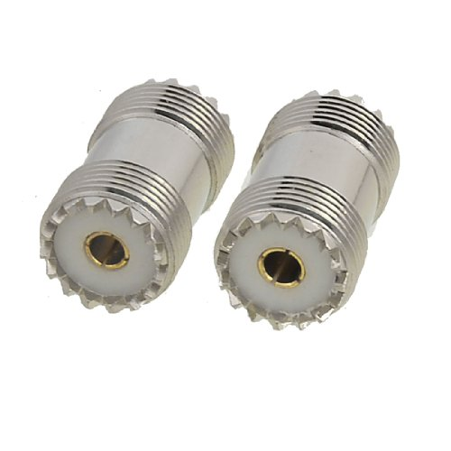 uxcell 2 Pcs S0-239 UHF Double Female Coax Adapter Connector Plug