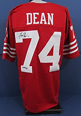Fred Dean HOF 08 Autographed/Signed San Francisco 49ers Jersey JSA
