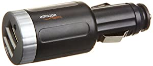 AmazonBasics 2-Port USB Car Charger with 2.1 Amp Output in Black