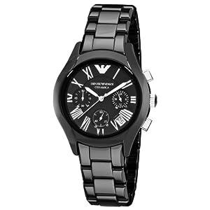 Emporio Armani Women's AR1401 Ceramic Black Chronograph Dial Watch