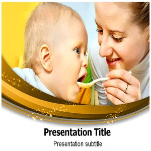 Babies Eating Powerpoint Template - Babies Eating Powerpoint Templates