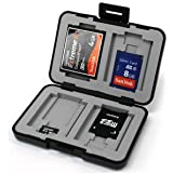 7dayshop Multi Use Memory Card Case for SD / SDHC / SDXC / microSD / microSDHC / microSDXC / Compact Flash etc. - Black