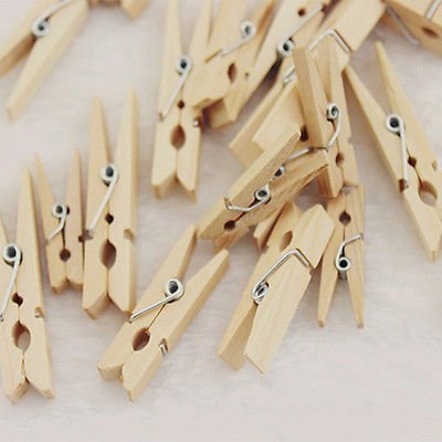 50 Pcs Wood Clothespins Wooden Laundry Clothes Pins Photo Paper Peg DIY Clip New (Beyblade Pegasus 3 Pack compare prices)