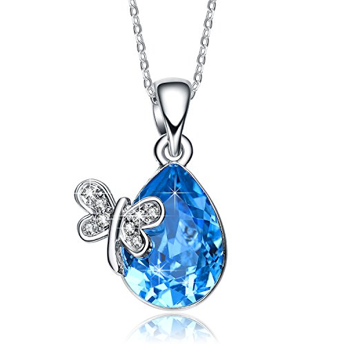 NEEMODA-Miss-Butterfly-Austrian-Crystal-Fashion-Pendant-Necklace-Triple-Gold-Plated-with-Deluxe-Box