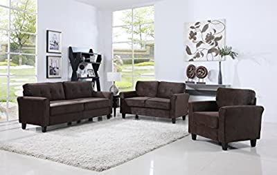 Classic Living Room Furniture Set - Sofa, Love Seat, Accent Chair