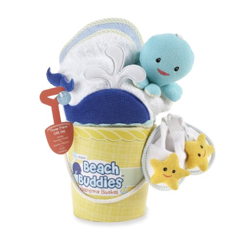 Baby Aspen, Beach Buddies 3-Piece Bathtime Bucket Gift Set, 0-6 Months - 1
