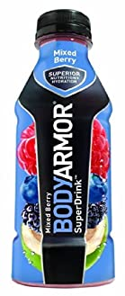 BODYARMOR SuperDrink, Mixed Berry, 16-Ounce Bottles (Pack of 12)