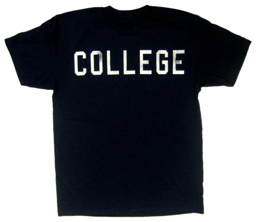 American Classics Men's Animal House Distressed College T-Shirt,Vintage Navy,Large