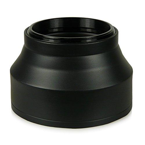 58mm Gegenlichtblende - Gummi / Silikon - für Canon EOS 1DX | 5D Mark II | 5D Mark III | 5D | 6D | 7D | 10D | 30D | 40D | 50D | 60D | 70D | 100D | 1000D | 1100D | 1200D | 300D | 350D | 400D | 450D | 500D | 550D | 600D | 650D | 700D - Nikon Df - Panasonic Lumix DMC-GH4 - Samsung Galaxy NX | NX10 | NX11 | NX20 | NX200 | NX210 | NX30 | NX300 - Fuji X-A1 | X-E1 | X-E2 | X-M1 | X-T1 - Olympus E-420 | E-450 | E-520 | E-620 und weitere...