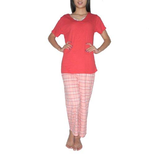 2pc-schlafanzuge-set-damen-liz-claiborne-gorgeous-schlafanzuge-pajama-set-sleep-top-hoses-grosse-l
