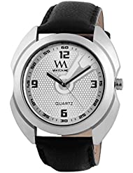 WATCH ME WHITE BROWN LEATHER ANALOG WATCH FOR MEN AND BOYS WMAL-004-W