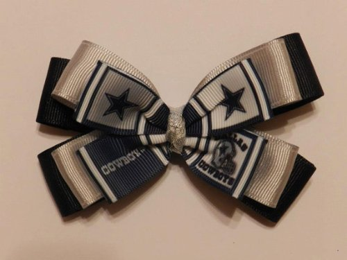 Dallas Cowboys Hair Bow - Triple Stacked at Amazon.com