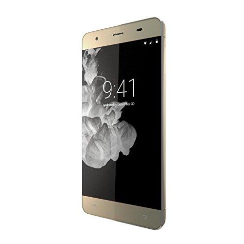 "Onix S501 Smartphone libre de 5"" (camara dual 13Mpx/5Mpx, 1GB RAM, memoria 16 GB, Android 5.1), dorado"