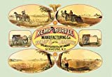 12 X 18 Stretched Canvas Poster Kemp's Patent Manure Spreader