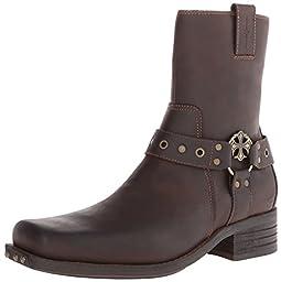 Mark Nason Dragon Collection Men\'s Finley Harness Boot,Dark Brown,10.5 M US