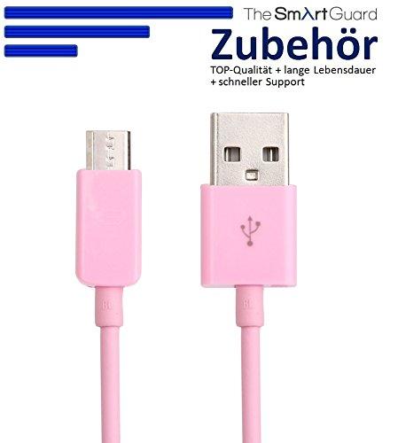 2 x Samsung Galaxy S3 Datenkabel / Ladekabel / S 3 / S3 Mini - Micro USB / Premium Kabel in pink - 1 Meter - von THESMARTGUARD