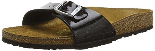Birkenstock Madrid - Ciabatte Donna, Nero (Black (Magic Galaxy Black)), 38 EU