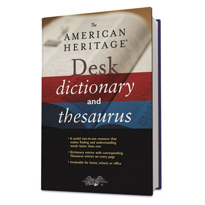 Houghton Mifflin H05800 American Heritage Desk Dictionary, Hardcover, 864 Pages